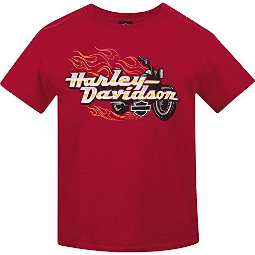 Harley-Davidson Military Youth Crew Neck T-Shirt - USAG Wiesbaden | Bike Blaze MD (10-12)