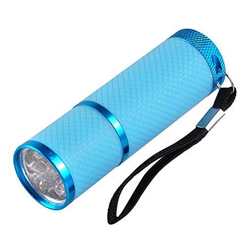 Mini UV Led Nail Lamp for Gel Nails 9 LED Flashlight Portability Nail Dryer Machine Nail Art Tools UV Light (BLUE)