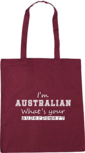10 Gym 42cm Your Tote Shopping What's Superpower I'm HippoWarehouse litres x38cm Australian Beach Burgundy Bag w0xFq7wC