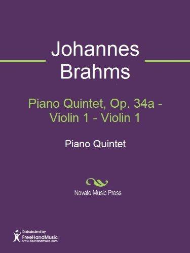 Piano Quintet, Op. 34a - Violin 1 ()