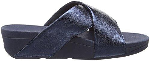 Azul Con Lulu Slide 632 meteor Sandalias Para Metal Blue Fitflop Abierta Mujer Punta Molten dv4qwXX
