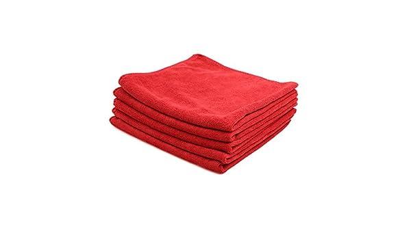 Amazon.com: eDealMax 5pcs 40 x 40 cm 300GSM microfibra Inicio Alquiler de toallas de secado el Lavado de ropa roja: Automotive
