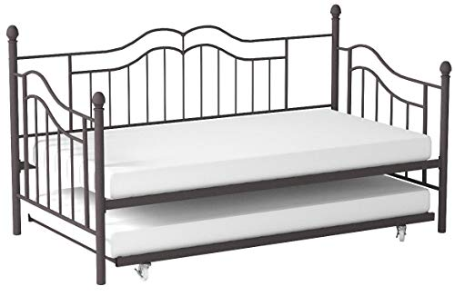 DHP Tokyo Daybed Trundle, Twin Over Twin Size, Brushed Bronze