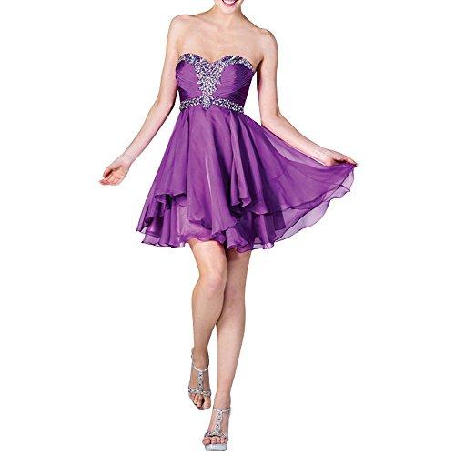 Formalkleider Mini Violett mia Ballkleider Cocktailkleider Festlichkleider Kurzes Pailletten Abendkleider Brau Brautjungfernkleider La gqnv6xw1v