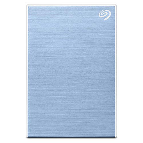 Seagate Backup Plus Slim 2 TB External Hard Drive Portable HDD – Light Blue USB 3.0 for PC Laptop and Mac, 1 Year Mylio Create, 2 Months Adobe CC Photography (STHN2000402)