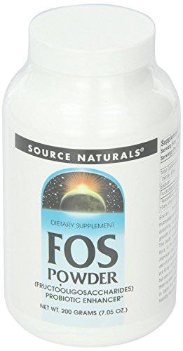 Source Naturals FOS Fructooligosaccharides Powder, Probiotic Enhancer, 7.05 Ounc…