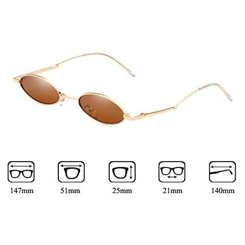 Pequeño Unisex Trend Ligeras Gafas Gafas Retro Redondo Marco 400 Sol Metal Moda UV De C2 Protección Ultra De De rr61q5vxw