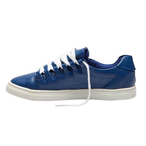 TD004 Confortable Cuir Femme Chaussures Lacets Mode Blue Dames Baskets Loisirs Plat Marche TEDISH Orabelle Outdoor de Mazarine 0EOqBwEn