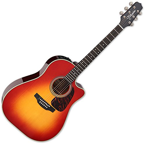 Takamine CP6SSDC 6 Strings Dreadnought Acoustic Guitar with Bold Adirondack Spruce Top and Sapele Back and Sides - Gloss Cherry Sunburst ()