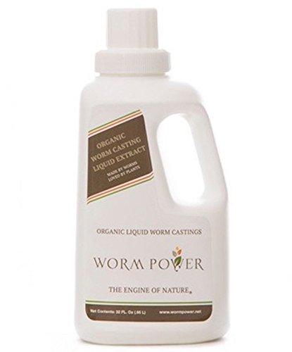 Worm Power CG00010 Organic Worm Casting Liquid Extract, 32 oz