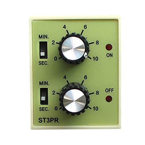 - ManHua 220VAC Repeat Cycle Relay Timer ST3PR Twin Time Delay Relay