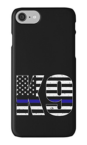 RHINO ARMOUR SLIM - Ultra Premium Case -Thin Blue Line Police Dog K9 Canine- New design for NEW Apple iPhone X,10 - ( 5.8 inch), Made & Printed in the USA