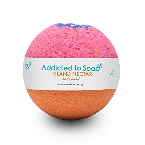 Addicted to Soap – Island Nectar | Ultra Luxurious Bath Bombs – Extra Large and Longer Lasting 6oz for an Organic & Sensual Relaxation Session - Handmade with Love in - Nectar Day Family Care