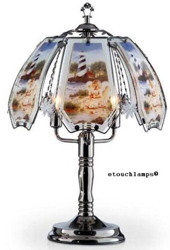 Lighthouse Touch Lamp 7 with Pewter Base (Lighthouse Touch Lamp)