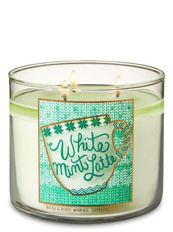 Bath & Body Works 3 Wick Candle White Mint Latte