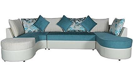 Sunny Designer Sofas Solid Gold Fancy Sectional U Shape Sofa Set