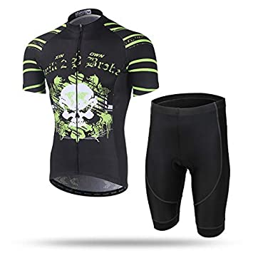 Men/'s Cycling Set Long Sleeve Bike Jersey Padded Pants Quick dry Tights Bicycle