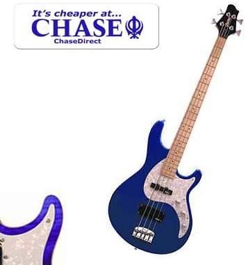 Guvnor by Chase GB300 bajo eléctrico Guitarra en metálico púrpura ...
