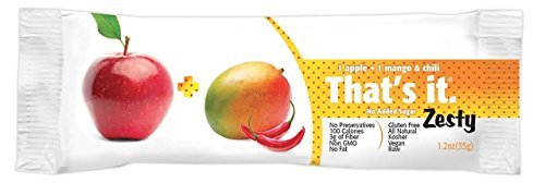 That's It Fruit Bar Zesty, Apples + Mangoes & Chili ( Pack of 24 )