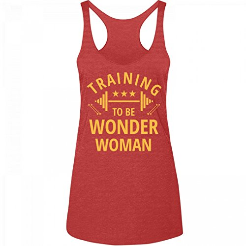 Wonder+Woman+Shirts Products : Training To Be Wonder Woman Spoof: Junior Fit Triblend Racerback Tank Top