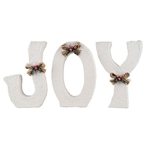 (Winter White Joy Letters Set of 3)