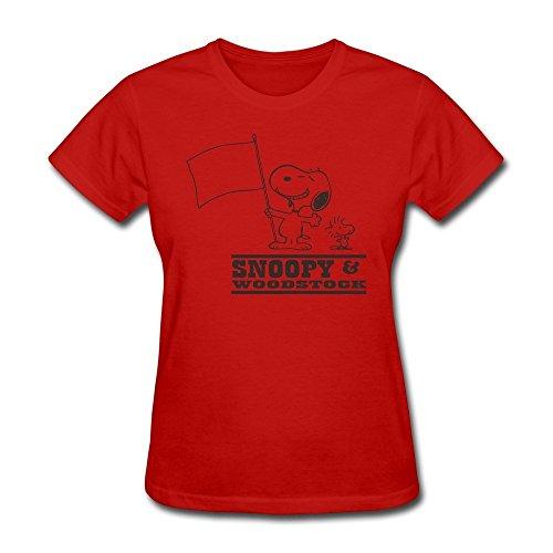 Price comparison product image ZHUYOUDAO Woman ComfortSoft Dog Snoopy Woodstock Short-Sleeve T-shirts