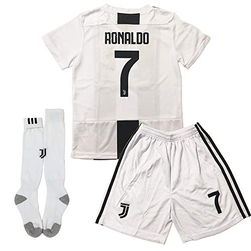 d56b2a973 GLL SPORT New 2018-2019 Home Juventus  7 Ronaldo White Soccer Football  Jersey for