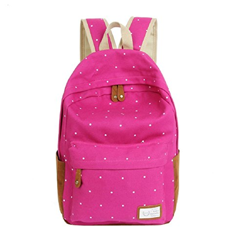 Bessky® Double-Shoulder Girls Canvas Dots