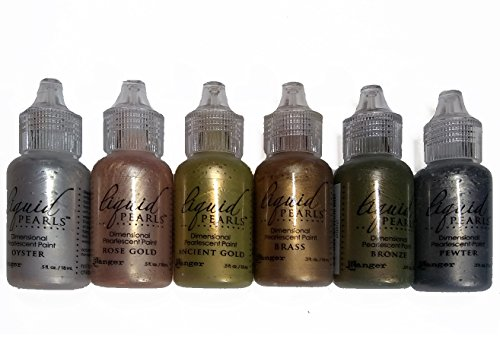 (Ranger Liquid Pearls - Dimensional Pearlescent Paint, Set of Six Colors - Metals #1)