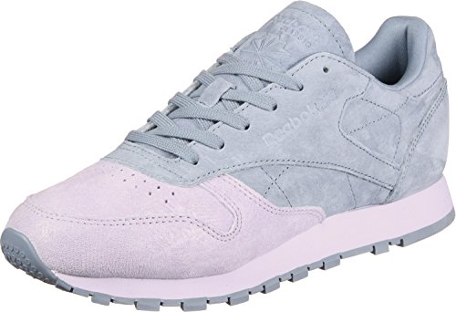 Reebok Classic Leather Nbk, Zapatillas Para Mujer Gris (Quartz/Rain Cloud 000)