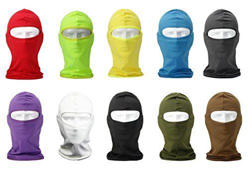 NewNow Candy Color Ultra Thin Ski Face Mask - Great Under A Bike / Football Helmet -Balaclava-Red by NewNow (Image #6)