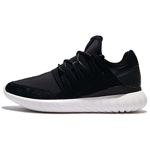 adidas Men's Tubular Radial, Black/White, 9.5 M US