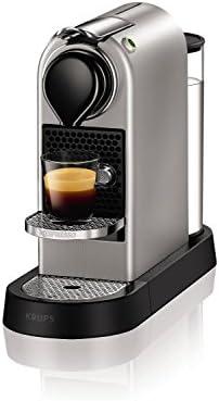 Krups YY2733FD Machine à Café Nespresso Citiz Espresso Lungo Capsules 19 Bars Réservoir 1L Cafetière Expresso Silver