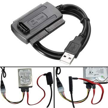 Arduino Compatible SCM & DIY Kits Programmer & Logic Analyzer - USB 2.0 to SATA/IDE Data Hard Drive Cable for HDD Power Converter Adapter -1 x USB2.0 to SATA IDE cabl