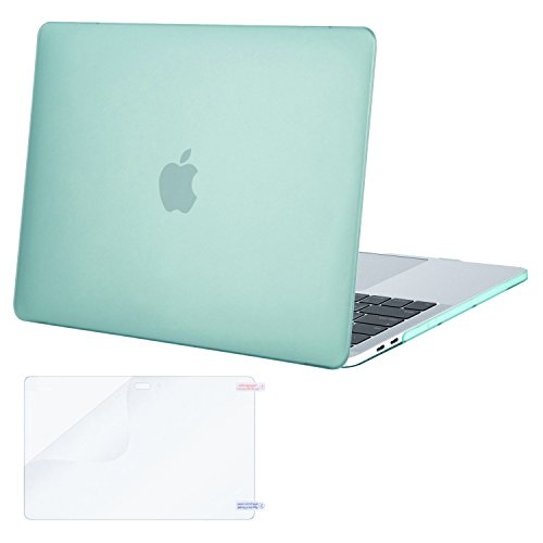 Btm Tab - MOSISO MacBook Pro 15 Case 2019 2018 2017 2016 Release A1990 A1707 with Touch Bar & Touch ID, Plastic Hard Shell Cover & Screen Protector Compatible Newest MacBook Pro 15 Inch, Mint Green