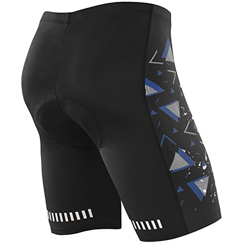NOOYME (Lowest Price) Mens Cycling Shorts 3D Gel Padded Bicycle Riding Mens Bike Shorts (XXL, Blue-White)