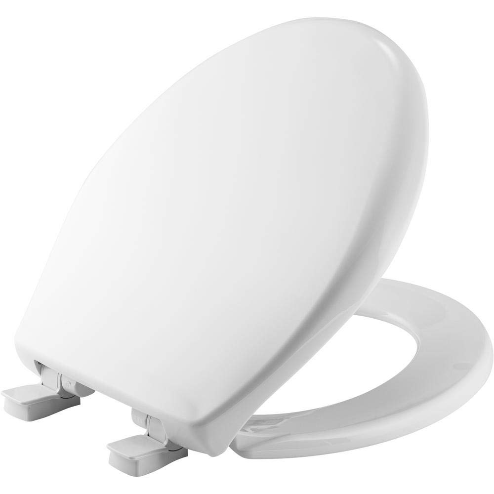 Bemis Slow Close Round Closed Front Toilet Seat in White