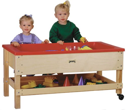 Jonti Craft 2 Tubs (Jonti-Craft 2866JC Toddler Sensory Table with Shelf)