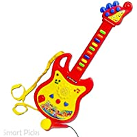 Hetkrishi Guitar Musical Toy for Kids with Microphone (Color May Vary)
