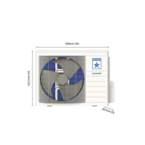 Blue Star 1 Ton 5 Star Inverter Split AC (Copper IC512DATU White)