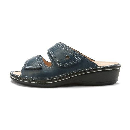 Finn Comfort Van Vrouwen Jamaika Sandaal Jeans Blauwe Zachte Voetbed