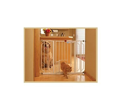 CARLSON PET GATES 916039 Extra Wide Walk Through Gate with Pet Door ()