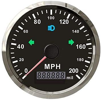 ELING MPH Velocímetro GPS odómetro de 200 MPH Mileage ...