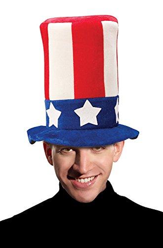 Forum Novelties Men's Promotional Uncle Sam Top Hat Party Supplies, Standard, Multicolor