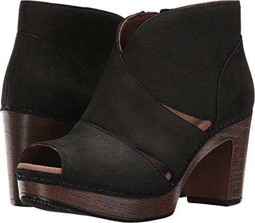 Dansko Women's Delphina Ankle Bootie, Black Milled Nubuck, 39 EU/8.5-9 M US