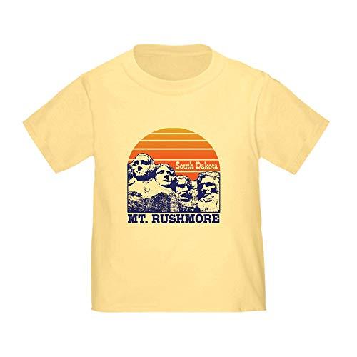 CafePress MT. Rushmore South Dakota Toddler T Shirt Cute Toddler T-Shirt, 100% Cotton Daffodil Yellow ()