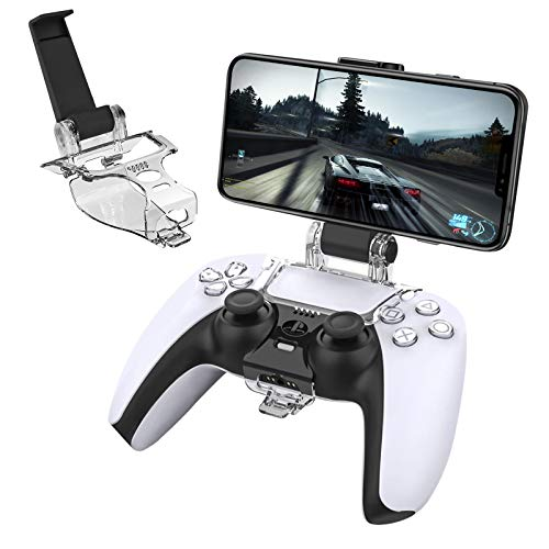 Newseego PS5 Controller Phone Mount Clip, Foldable Mobile Phone Holder Bracket [Adjustable Angle] for Game Controller…