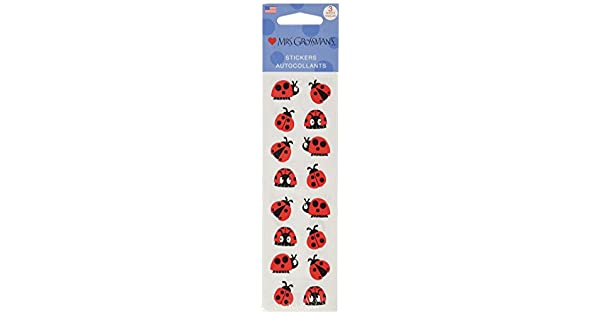 In Network MG199-04093 Mrs Grossman Stickers-Chubby Ladybugs Notions