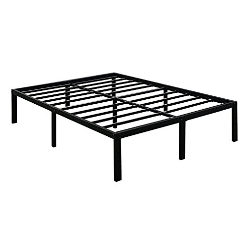 TATAGO 3000lbs Max Weight Capacity 16 Inch Tall Heavy Duty Metal Platform Bed Frame Mattress Foundation, Extra-Strong Support &Non-Slip, No Noise & No Box Spring Need for Saving Money, Queen
