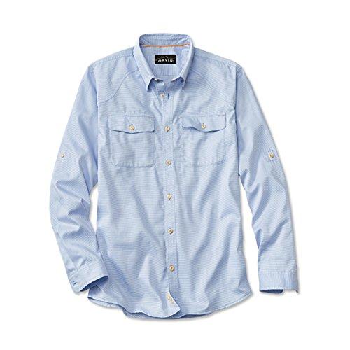 Orvis Clearwater L/S Dress/Tech Shirt Hybrid (MEDIUM, Light Blue)